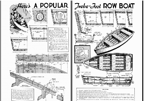 Model boat building plans free of Sunny skiff made by Jake and