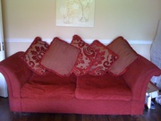 LARGE LUXUARY SOFA CHAIR AND FOOTSTOOL....BARGAIN....€250